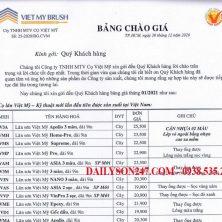 Bảng giá cọ lăn sơn Việt Mỹ