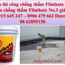 Sơn chống thấm Flintkote No.3 giá rẻ nhất quận gò vấp !